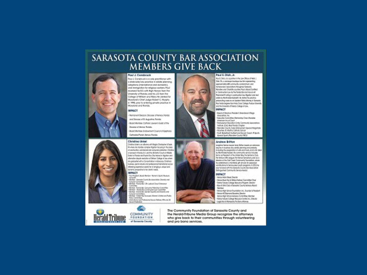 Herald Tribune: Sarasota Bar Members Give Back